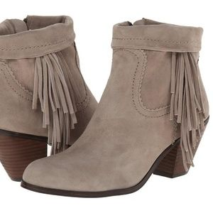 Sam Edelman 8.5 Beige Brown Louie Fringe Booties